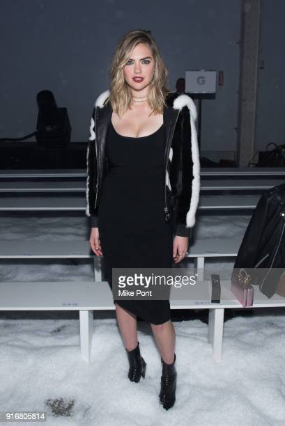 Kate Upton attends the Philipp Plein fashion show during New York Fashion Week The Shows on February 10 2018 in New York City