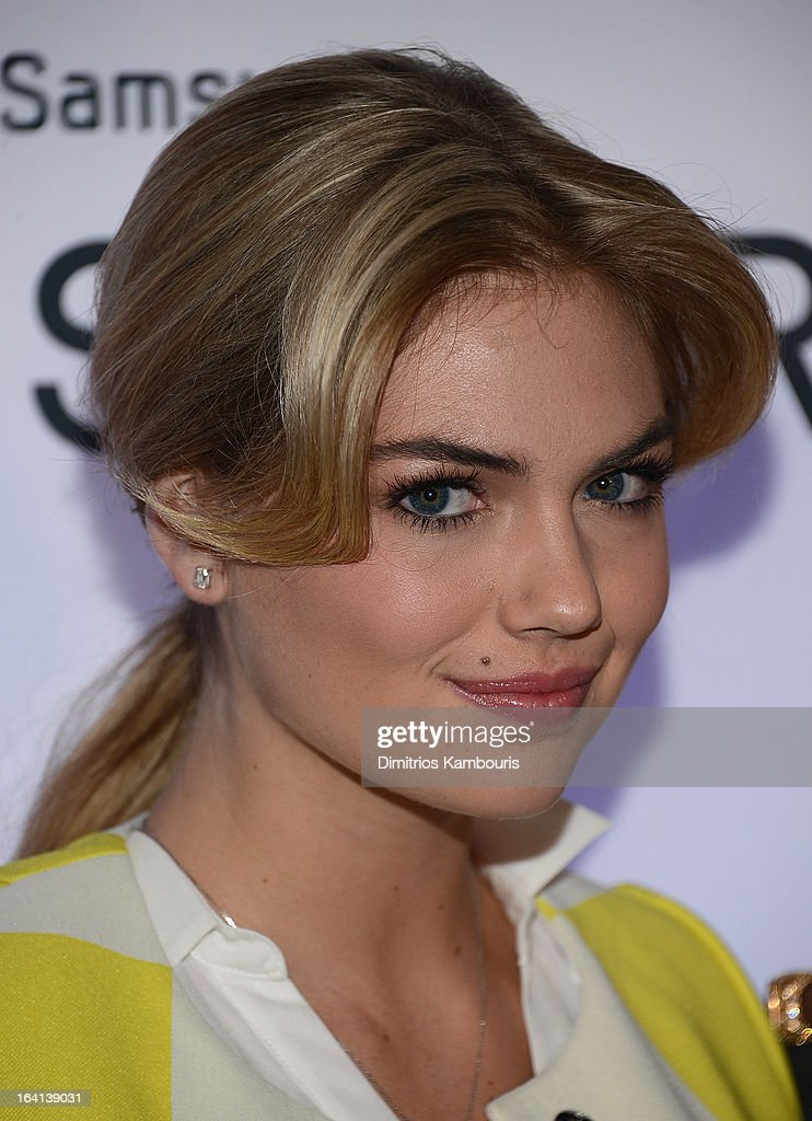 Kate Upton attends the Samsung 2013 Television Line Launch Event at the Museum Of American Finance on March 20, 2013 in New York City.