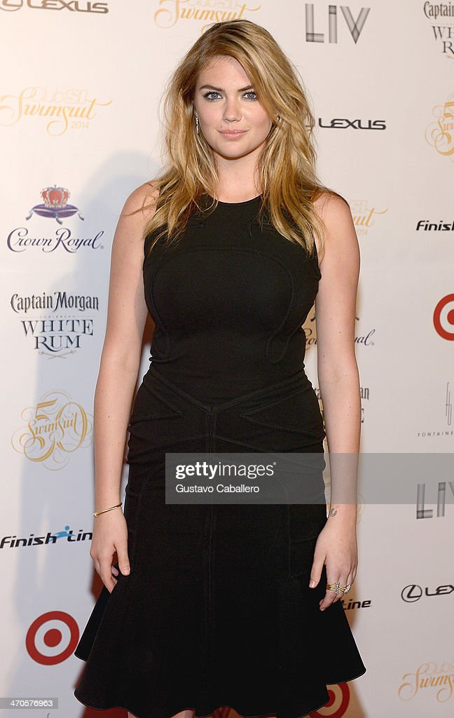 Kate Upton attends the Sports Illustrated Hosts 'Club SI' at LIV nightclub at Fontainebleau Miami on February 19, 2014 in Miami Beach, Florida.