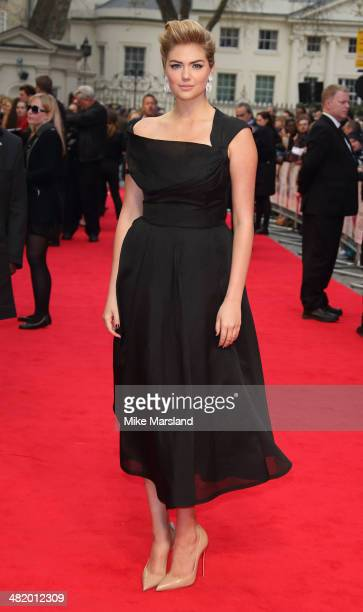 """Kate Upton attends the UK Gala premiere of """"The Other Woman"""" at The Curzon Mayfair on April 2, 2014 in London, England."""