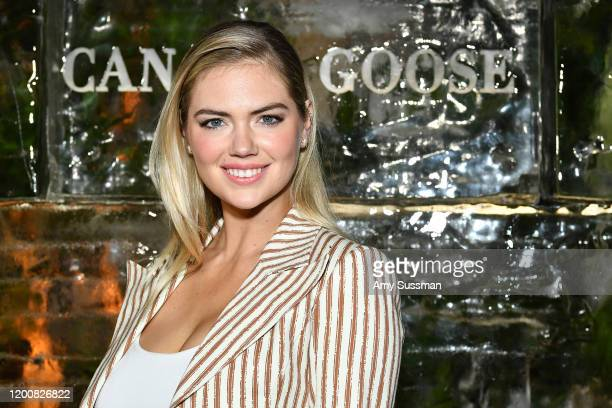 Kate Upton attends the Vogue Canada Goose Polar Bear International screening and panel at Smogshoppe on February 12 2020 in Los Angeles California