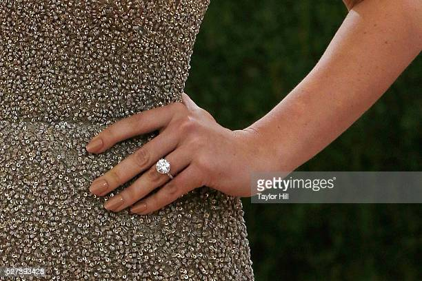 Kate Upton engagement ring detail attends 'Manus x Machina Fashion in an Age of Technology' the 2016 Costume Institute Gala at the Metropolitan...