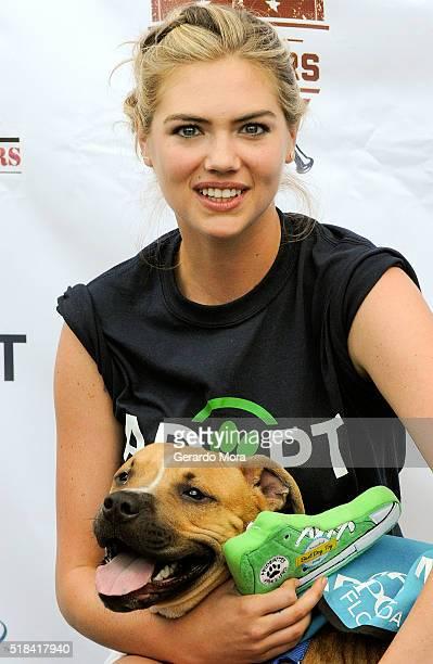 Kate Upton hosts Grand Slam Adoption at Joker Marchant Stadium on March 31 2016 in Lakeland Florida
