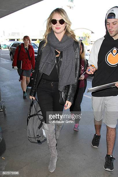 Kate Upton is seen at LAX on December 23 2015 in Los Angeles California