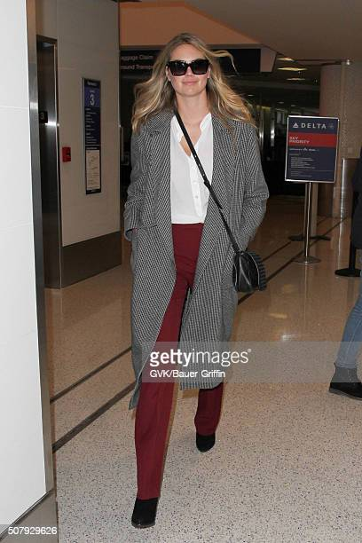 Kate Upton is seen at LAX on February 01 2016 in Los Angeles California