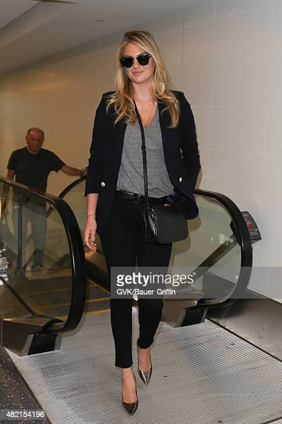 Kate Upton is seen at LAX on July 27 2015 in Los Angeles California
