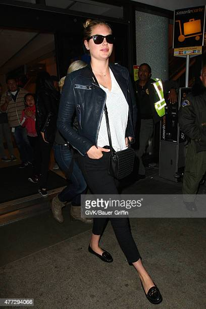 Kate Upton is seen at LAX on June 15 2015 in Los Angeles California