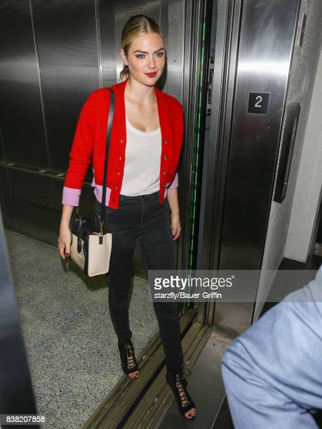 Kate Upton is seen at Los Angeles International Airport on August 23 2017 in Los Angeles California