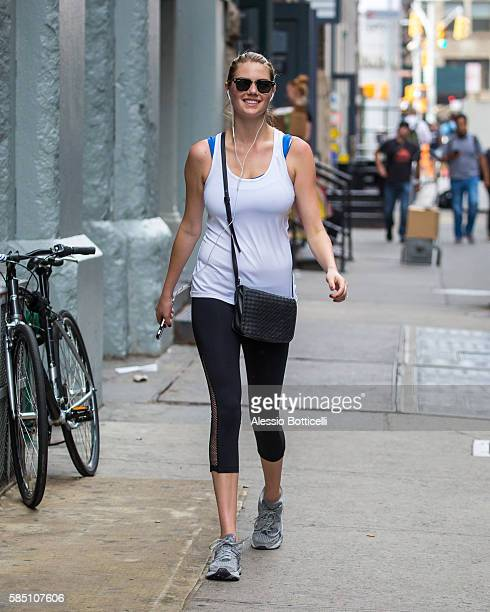 Kate Upton is seen heading to a gym in SoHo on July 31 2016 in New York New York
