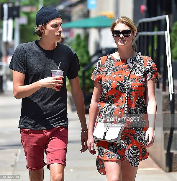 Kate Upton is seen in Tribeca on July 3 2014 in New York City