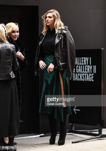 Kate Upton is seen outside the Jason Wu show during New York Fashion Week Women's A/W 2018 on February 9 2018 in New York City