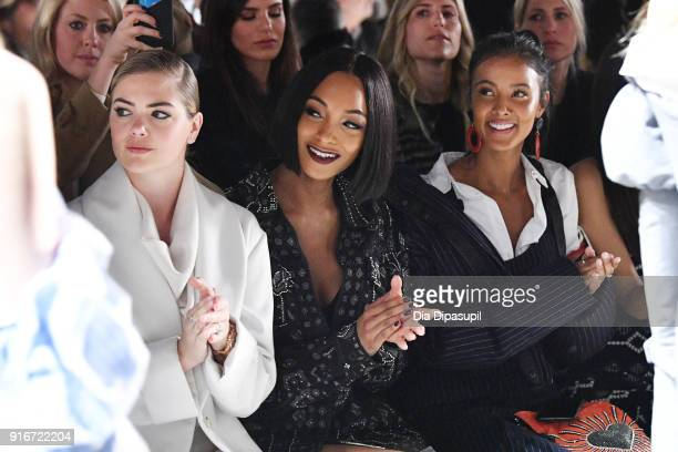 Kate Upton Jourdan Dunn and Maya Jama attends the Jonathan Simkhai fashion show during New York Fashion Week The Shows at Gallery I at Spring Studios...