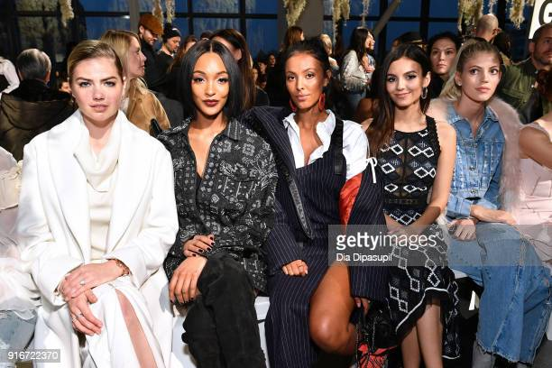 Kate Upton Jourdan Dunn Maya Jama and Victoria Justice attends the Jonathan Simkhai fashion show during New York Fashion Week The Shows at Gallery I...