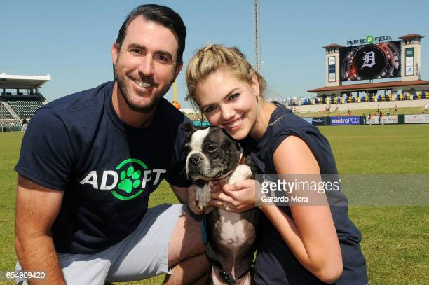 Kate Upton Justin Verlander and Wins for Warriors Foundation Host Grand Slam Adoption Event Presented by Link AKC on March 18 2017 in Lakeland...