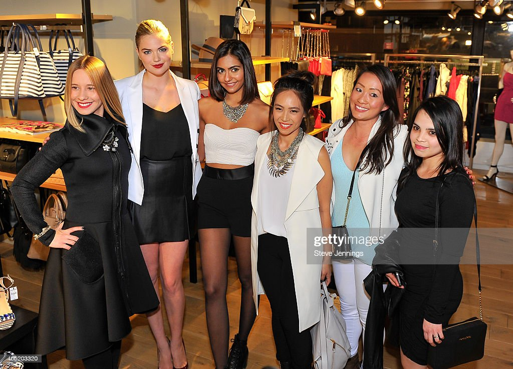 EXPRESS Spring Fling Event With Kate Upton, Union Square, San Francisco : News Photo