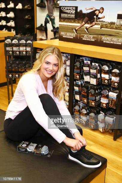 Kate Upton shops Copper Fit at Dicks Sporting Goods on January 9 2019 in El Segundo California