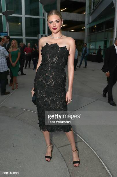Kate Upton signs autographs at the premiere of DIRECTV And Vertical Entertainment's The Layover at ArcLight Hollywood on August 23 2017 in Hollywood...