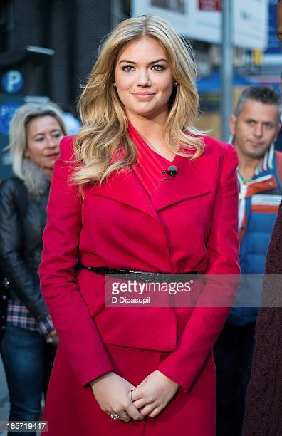 Kate Upton visits 'Extra' in Times Square on October 24 2013 in New York City