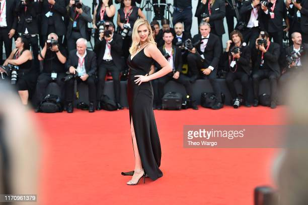 Kate Upton walks the red carpet ahead of the Marriage Story screening during during the 76th Venice Film Festival at Sala Grande on August 29 2019 in...
