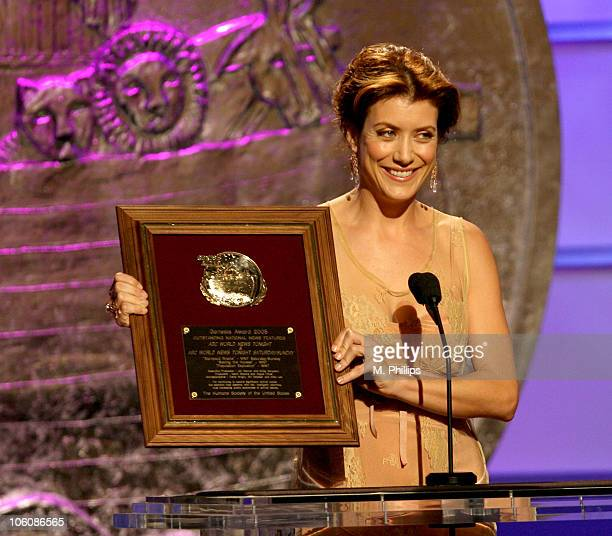 Kate Walsh accepting for ABC World News Tonight during 20th Anniversary Genesis Awards - Show at Beverly Hills Hotel in Beverly Hills, CA, United...