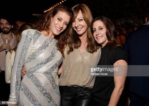 Kate Walsh Allison Janney and Leslie Siebert attend the 2017 Gersh Emmy Party presented by Tequila Don Julio 1942 on September 15 2017 in Los Angeles...