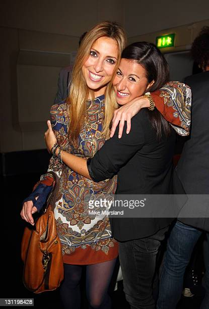 Kate Walsh and Hayley Tammadon attend launch to unveil the new look of Aigua Media's fashion and beauty sites on November 2 2011 in London United...