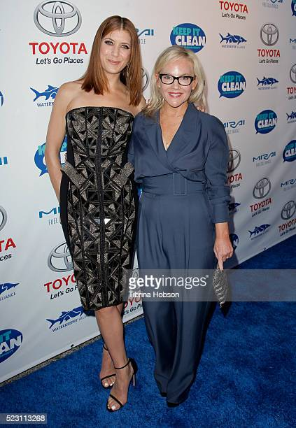 Kate Walsh and Rachael Harris attend the Keep It Clean A Live Comedy Benefit For Waterkeeper Alliance at Avalon on April 21 2016 in Hollywood...
