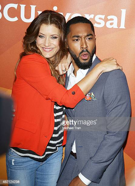 Kate Walsh and Tone Bell arrive at NBCUniversal's 2014 Summer TCA Tour Day 1 held at The Beverly Hilton Hotel on July 13 2014 in Beverly Hills...
