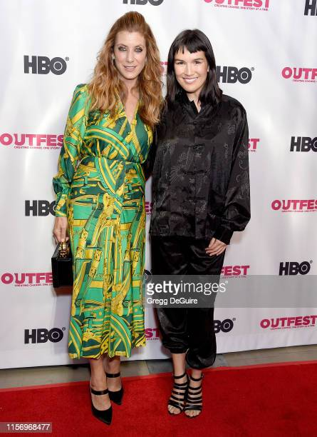 Kate Walsh and Zoe Chao attend the 2019 Outfest Los Angeles LGBTQ Film Festival Screening Of Sell By at TCL Chinese Theatre on July 20 2019 in...