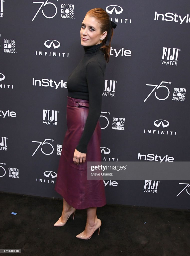 Kate Walsh arrives at the Hollywood Foreign Press Association And InStyle Celebrate The 75th Anniversary Of The Golden Globe Awards at Catch LA on November 15, 2017 in West Hollywood, California.