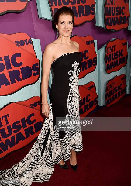 Kate Walsh attends the 2014 CMT Music awards at the Bridgestone Arena on June 4 2014 in Nashville Tennessee