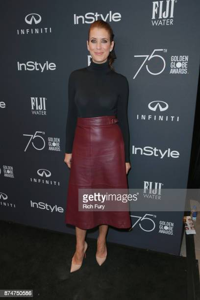 Kate Walsh attends the Hollywood Foreign Press Association and InStyle celebrate the 75th Anniversary of The Golden Globe Awards at Catch LA on...