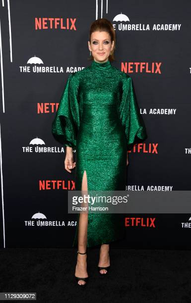 Kate Walsh attends the Premiere of Netflix's The Umbrella Academy at ArcLight Hollywood on February 12 2019 in Hollywood California