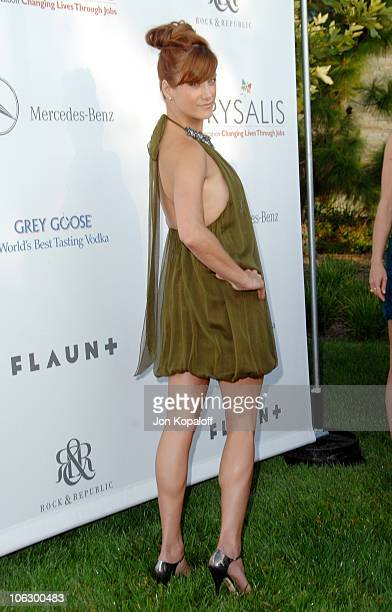 Kate Walsh during Sixth Annual Chrysalis Butterfly Ball Arrivals at Home of Susan Harris Hayward Kaiser in Mandeville Canyon California United States