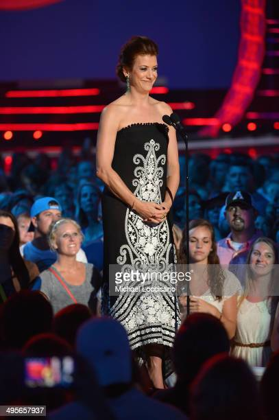 Kate Walsh speaks onstage at the 2014 CMT Music Awards at Bridgestone Arena on June 4 2014 in Nashville Tennessee