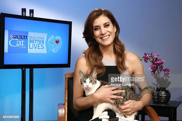 Kate Walsh teams up with Purina Cat Chow for its 'Shelter Volunteer of the Year Contest' on February 25 2015 in New York City