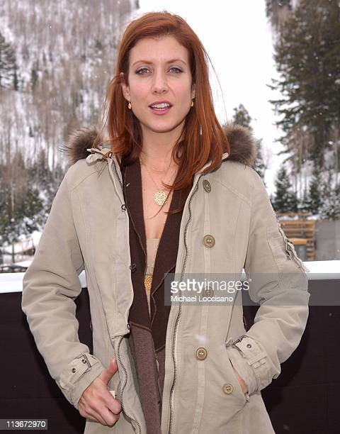 Kate Walsh wearing Napapijri at The Ice Lounge presented by The North Face Lexus and St Regis*Exclusive*