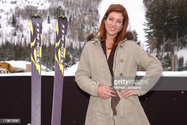 Kate Walsh wearing Napapijri with Stockli at The Ice Lounge presented by The North Face Lexus and St Regis*Exclusive*