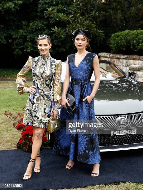 Kate Waterhouse and Bambi NorthwoodBlyth attend the 2020 Melbourne Cup Carnival Sydney Launch at Vaucluse House on October 27 2020 in Sydney Australia