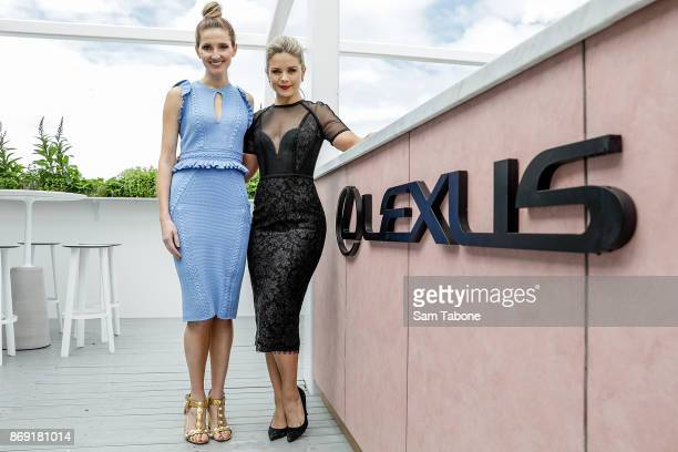 Kate Waterhouse and Emma Freedman during the Melbourne Cup Carnival Media Preview Day at Flemington Racecourse on November 2 2017 in Melbourne...