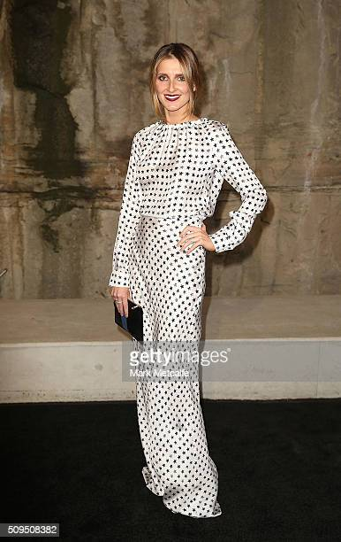 Kate Waterhouse arrives ahead of the Myer AW16 Fashion Launch on February 11 2016 in Sydney Australia