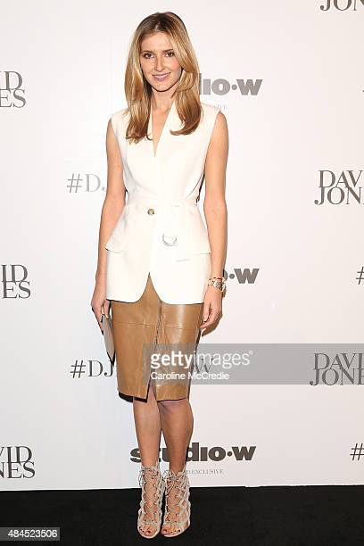 Kate Waterhouse arrives ahead of the StudioW launch at David Jones Elizabeth Street Store on August 20 2015 in Sydney Australia