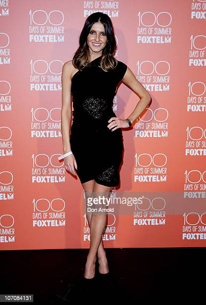 Kate Waterhouse arrives at Foxtel's 100 Days of Summer Party at the Ivy Pool Club on November 23 2010 in Sydney Australia