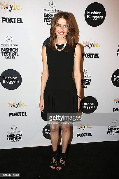 Kate Waterhouse arrives at the Fashion Bloggers on Style Spring Edits show during MercedesBenz Fashion Festival Sydney at Sydney Town Hall on...