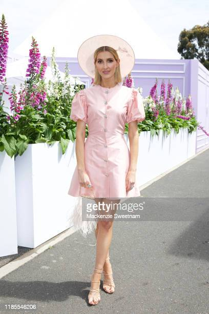 Kate Waterhouse attends Melbourne Cup Day at Flemington Racecourse on November 05 2019 in Melbourne Australia