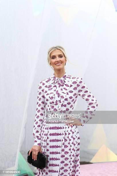 Kate Waterhouse attends Oaks Day at Flemington Racecourse on November 07, 2019 in Melbourne, Australia.