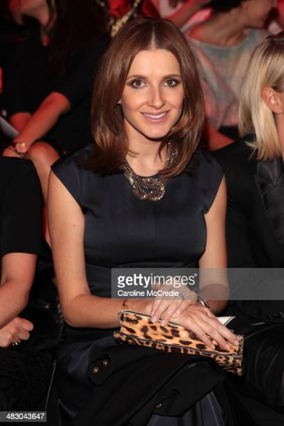 Kate Waterhouse attends the Carla Zampatti show during MercedesBenz Fashion Week Australia 2014 at Carriageworks on April 6 2014 in Sydney Australia