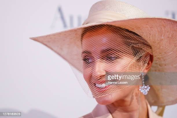 Kate Waterhouse attends the Everest Carnival Fashion Lunch on TAB Epsom Day at Royal Randwick Racecourse on October 03, 2020 in Sydney, Australia.