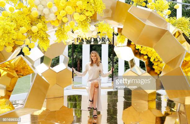 Kate Waterhouse attends the Pandora Gold Party at The Calyx on March 14 2018 in Sydney Australia