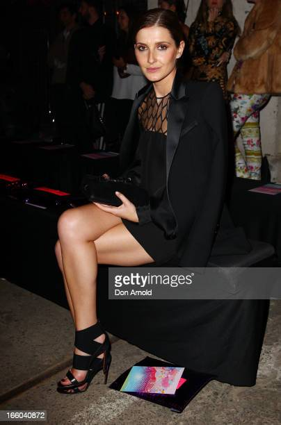 Kate Waterhouse attends the Romance was Born show during MercedesBenz Fashion Week Australia Spring/Summer 2013/14 at Carriageworks on April 8 2013...